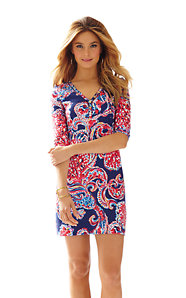 Palmetto V-Neck T-Shirt Dress