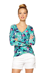 Jodie V-Neck Printed Top