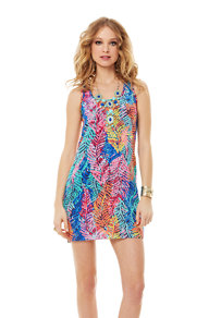 Betty Silk Racerback Tank Dress