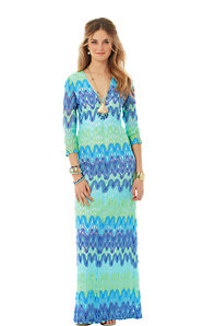 Lamora Knit Lace Maxi Dress