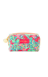 Palm Beach Medium Printed Cosmetic Case