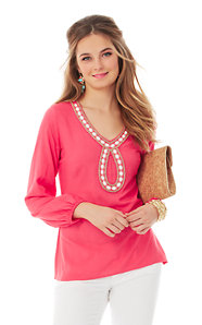 Violet Beaded Tunic