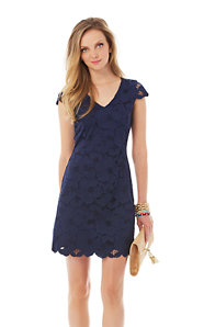 Dixie Lace V-Neck Sheath Dress