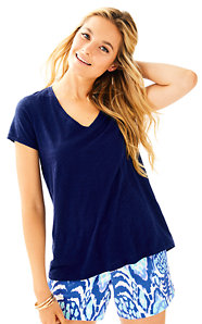 Etta V-Neck Top - Solid