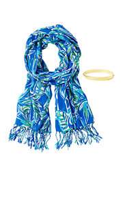 Printed Lilly Scarf & Bangle Set - Bamboom