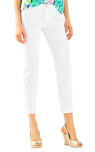 Kelly Ankle Length Skinny Pant - Solid