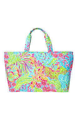 Large Palm Beach Tote - Lovers Coral