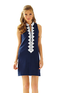 Callista High Collar Shift Dress