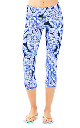 "UPF 50+ Luxletic 21"" Weekender Cropped Pant in Coco Safari"