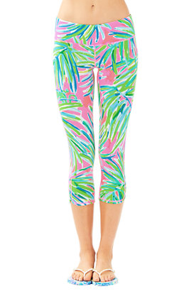 "UPF 50+ Luxletic 21"" Weekender Cropped Pant in Royal Lime"
