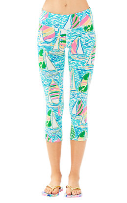 "UPF 50+ Luxletic 21"" Weekender Cropped Pant in You Gotta Regatta"