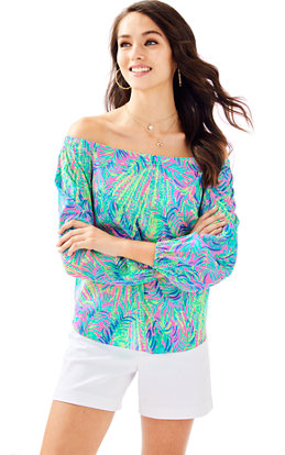 Adira Silk Off The Shoulder Top
