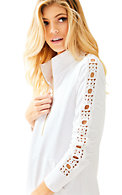 Skipper Solid Popover - Lace Sleeve
