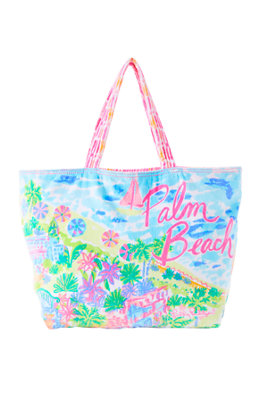 Destination Beach Tote - Palm Beach