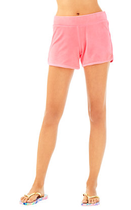 "4"" Robyn Solid Velour Lounge Short"