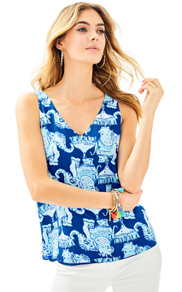 Florin Reversible Sleeveless V-Neck Tank