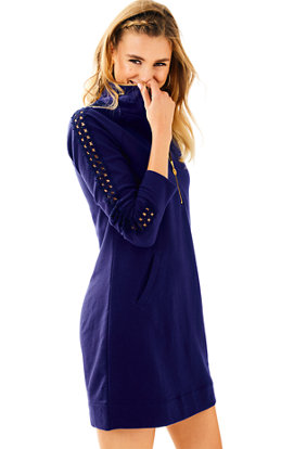 Skipper Solid Popover Dress