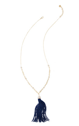 Midnight Tassel Necklace