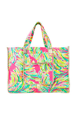 Sunbathers Foldable Beach Tote Bag