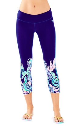 "UPF 50+ Luxletic 21"" Jolena Weekender Cropped Legging"
