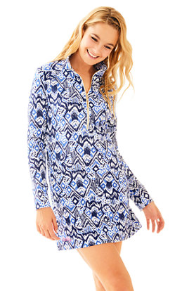 UPF 50+ Printed Popover Skipper Dress