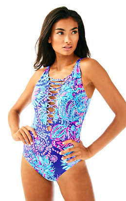 Isle Lattice One Piece Suit