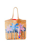 Printed Beach Comber Cork Tote