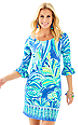 Beckon Blue Palm Passage Engineered Dress-1