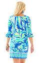 Beckon Blue Palm Passage Engineered Dress-2