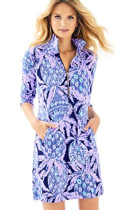 Aqua Dress with Sleeves