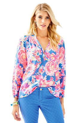 Elsa Silk Top - Bay Dreamin