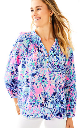 Elsa Silk Top - Cabana Cocktail