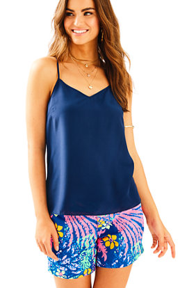 Dusk Racer Back Silk Tank Top