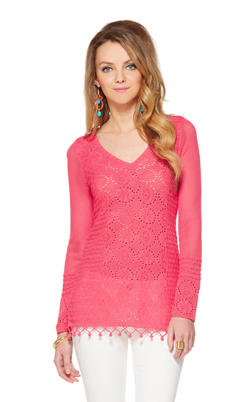 Acadia V-Neck Tunic Sweater
