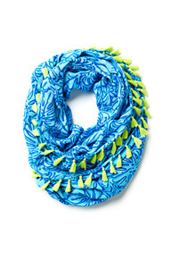 Riley Tassel Trim Infinity Loop Scarf