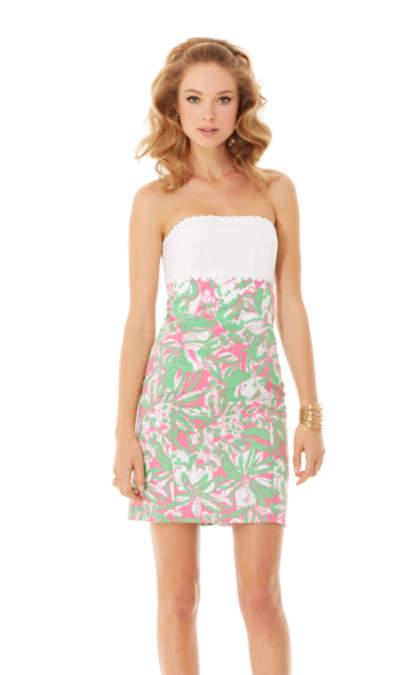 Franco Strapless Empire Waist Dress   76210   Lilly Pulitzer