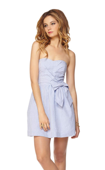 Henrietta Seersucker Strapless Sweetheart Dress - 76269 - Lilly ...