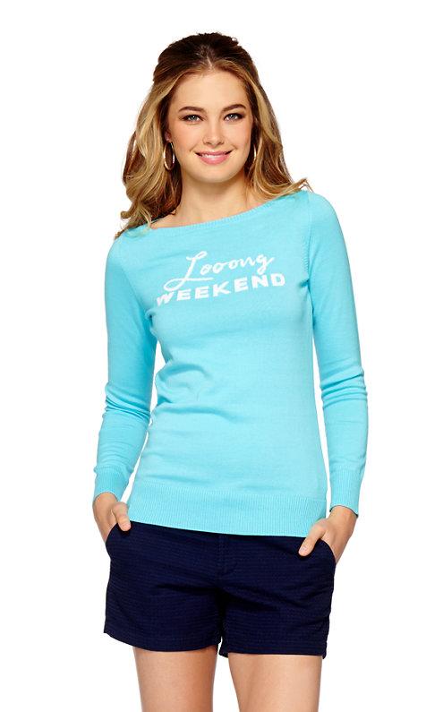 Marielle Boatneck Intarsia Sweater
