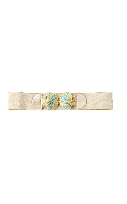 FINAL SALE - Emmett Shell Clasp Wide Belt