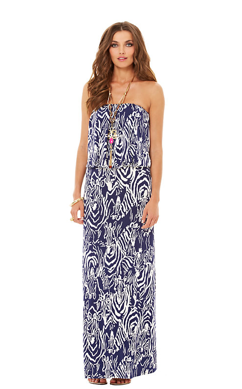 Morada Fitted Strapless Maxi Dress