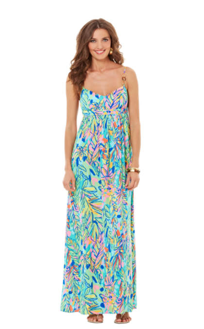 Joanna Empire Waist Maxi Dress  81570  Lilly Pulitzer