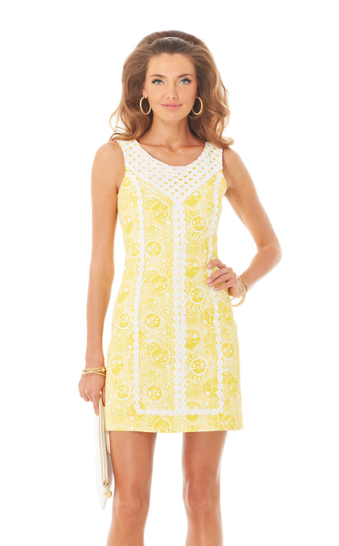 MacFarlane Lace Detail Shift Dress