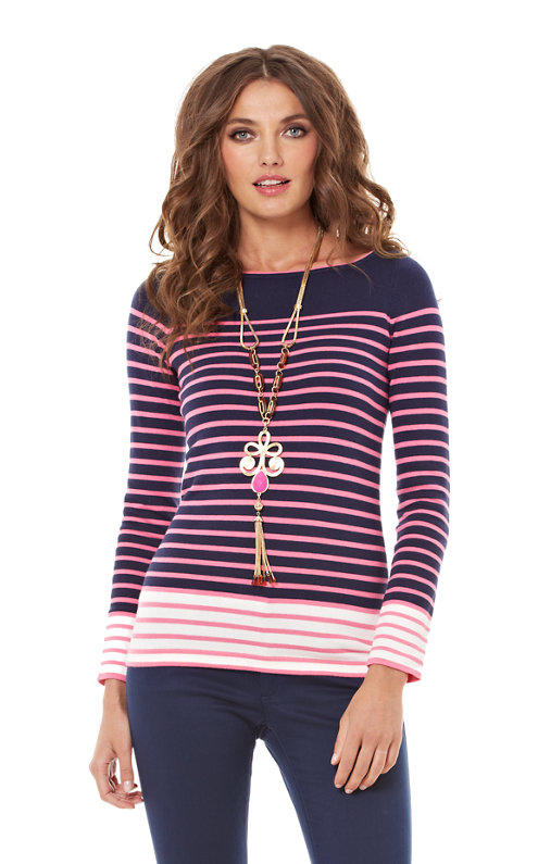 Maria Boatneck Striped Sweater