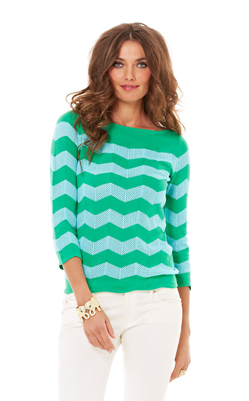 Ava Boatneck Striped Sweater