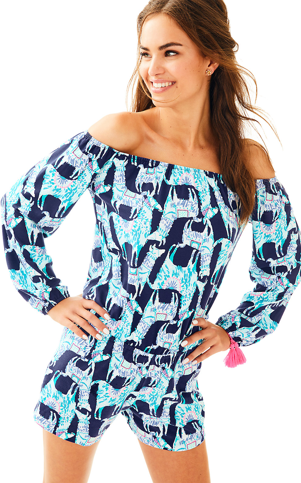 Lilly Pulitzer Lana Off The Shoulder Romper