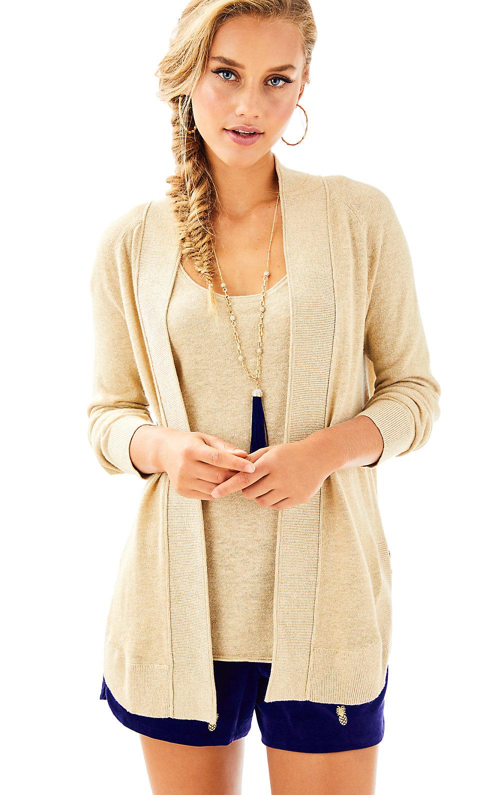 Lilly Pulitzer Micaila Lurex Sweater Cardigan