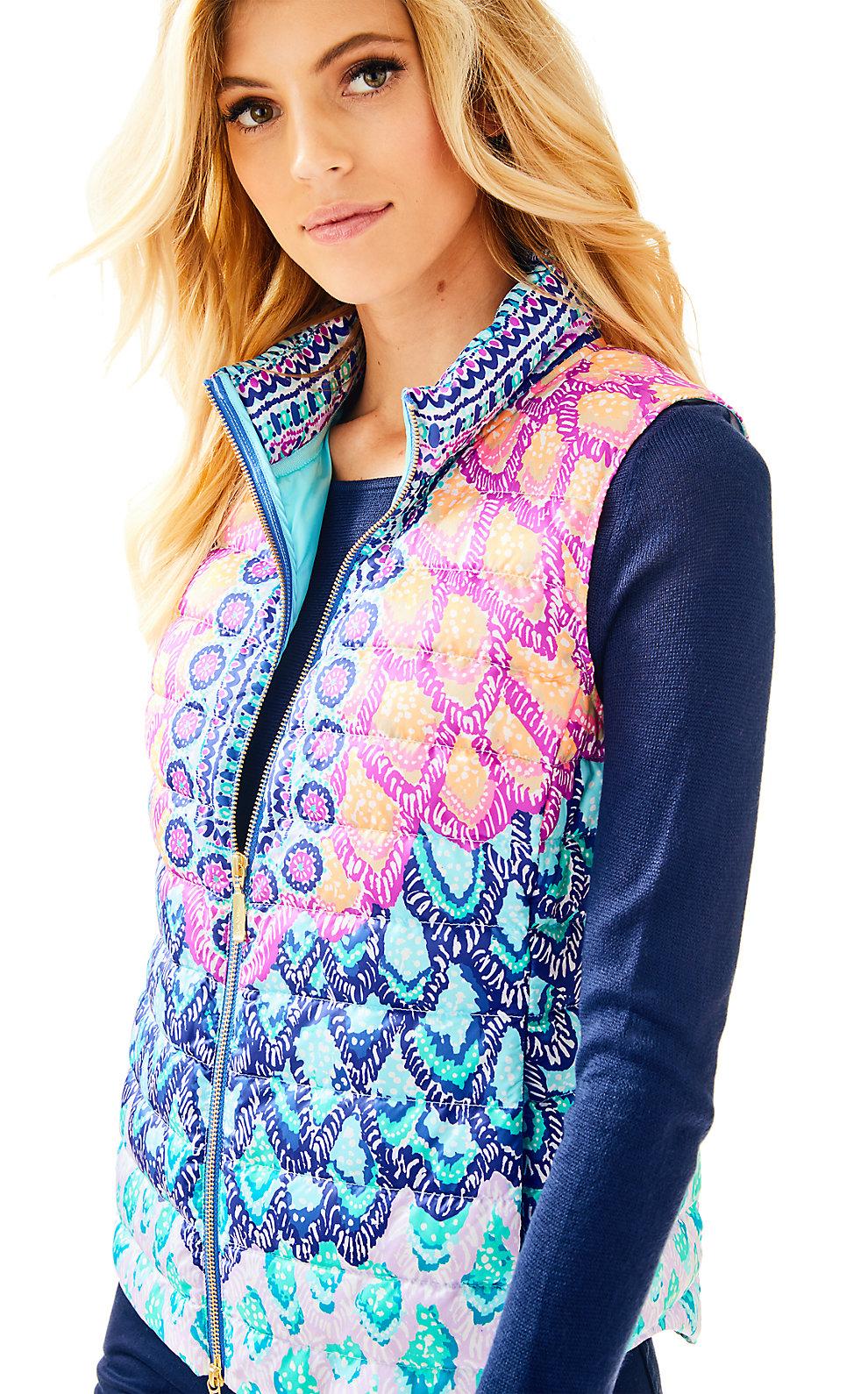 Lilly Pulitzer Essia Masterpiece Puffer Vest
