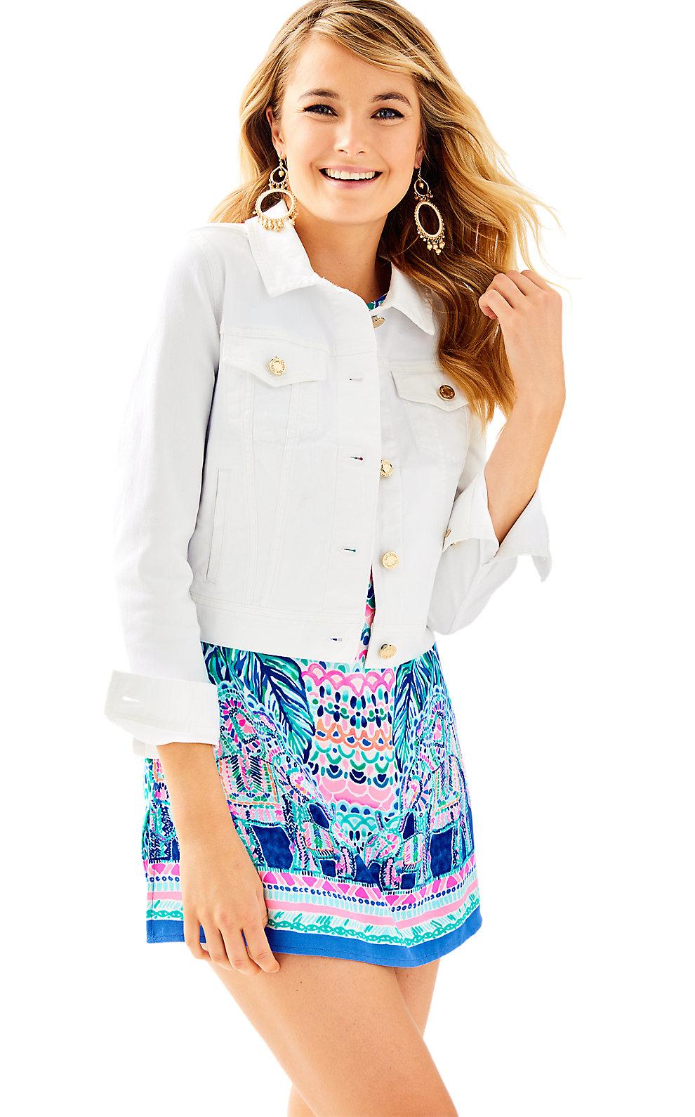 Womens Seaspray Denim Jacket in Resort White from Lilly Pulitzer