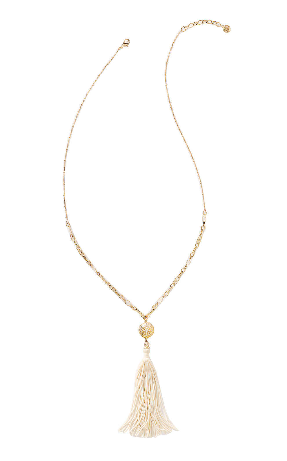 Lilly Pulitzer Sand Dune Tassel Necklace
