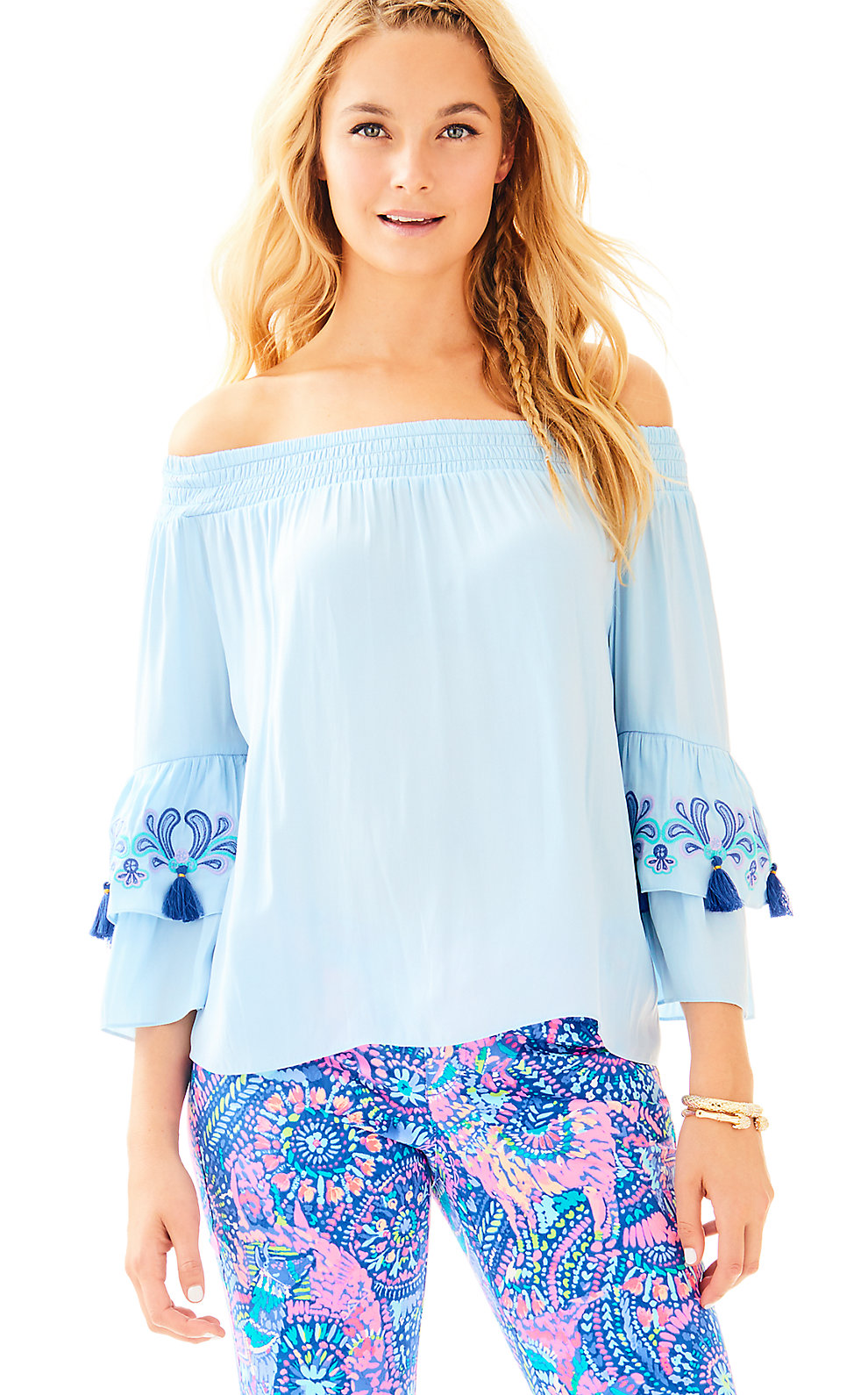 Lilly Pulitzer Tobyn Off the Shoulder Top